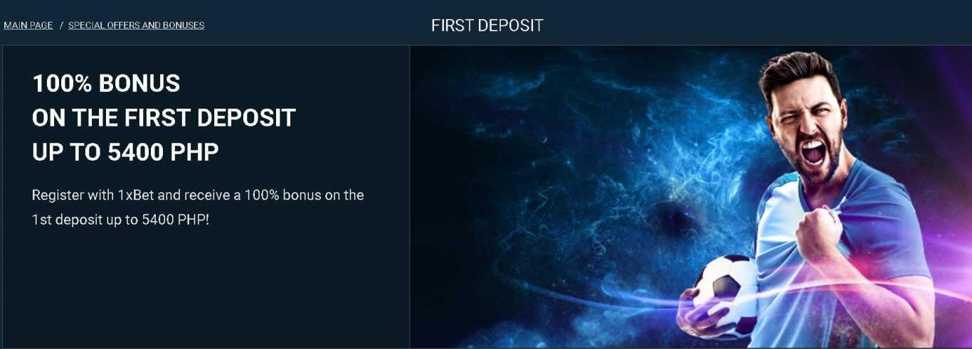 1xBet first deposit